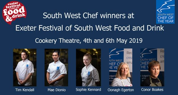 2018 winners appearing at Exeter Food Festival